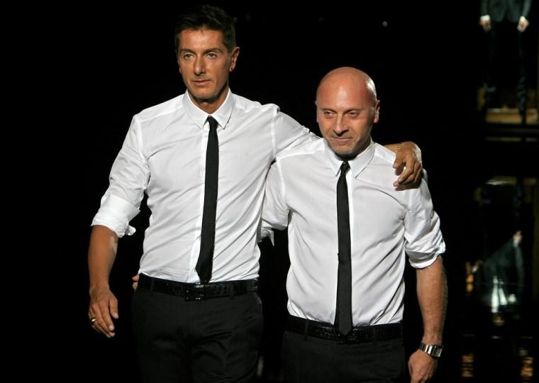 Italian fashion designers Domenico Dolce (L) and Stefano Gabbana in this 2007 file image.