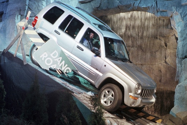 The completely new Daimlerchrysler 2002 Jeep Liberty sport utility makes its debut on the first day of press week at the North American International ...