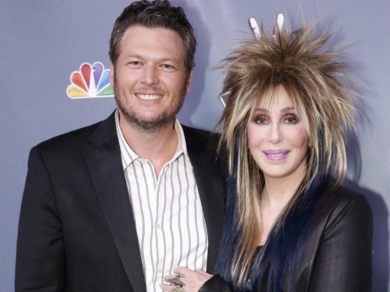 Image: Blake Shelton and Cher.