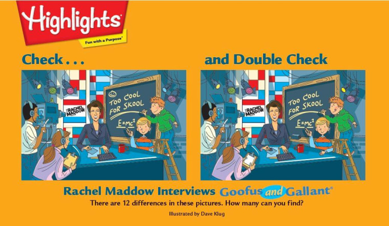 Highlights' Check...and Double Check, Maddow style