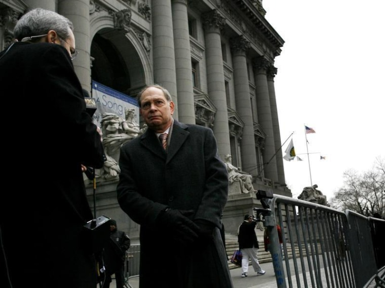 Irving Picard. the bankruptcy trustee in the Bernard Madoff case, speaks to the press outside the U.S. Bankruptcy Court in New York February 2, 2010. ...
