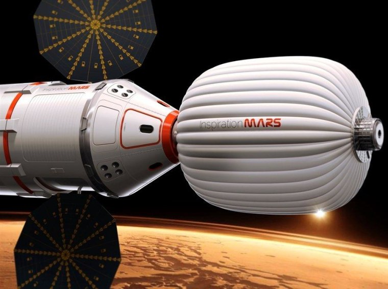 Sex on the spacecraft for the Inspiration Mars Foundation's