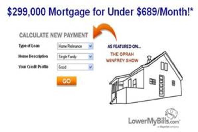 One example of the LowerMyBills advertisement