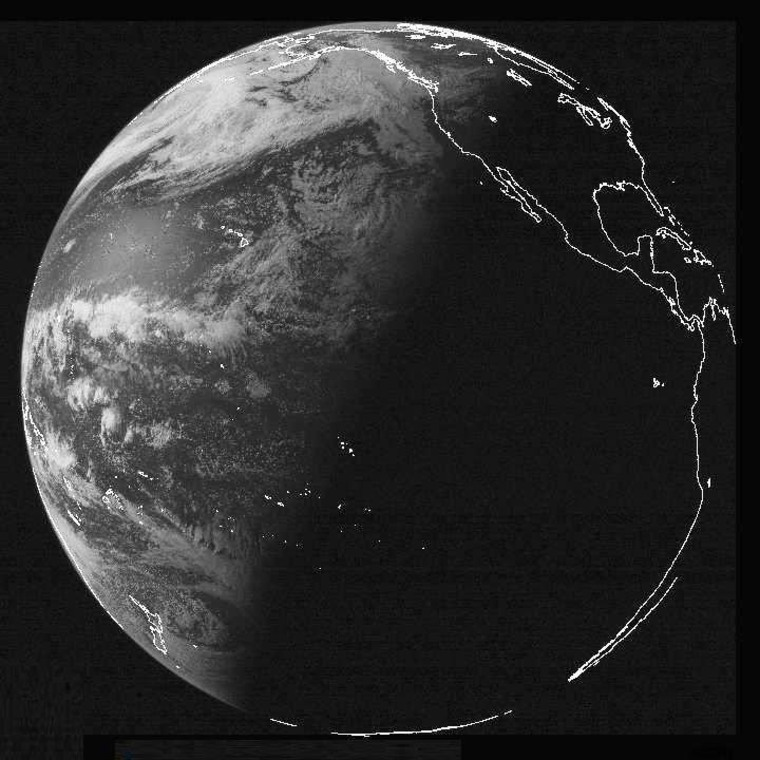 An image from the GOES West weather satellite, captured just hours before Friday's solstice, shows how the tilt of Earth's axis affects where sunlight falls.