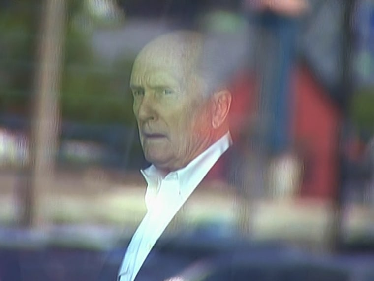 Robert Duvall inside the courthouse where James Bulger is being tried