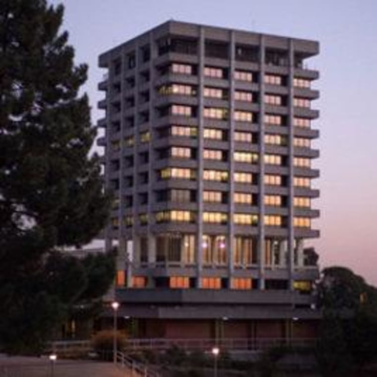 Sometime in August, contractors will implode Warren Hall at California State University, East Bay in Hayward, near San Francisco.