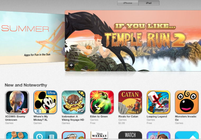 Apple's App Store within the iTunes Store.