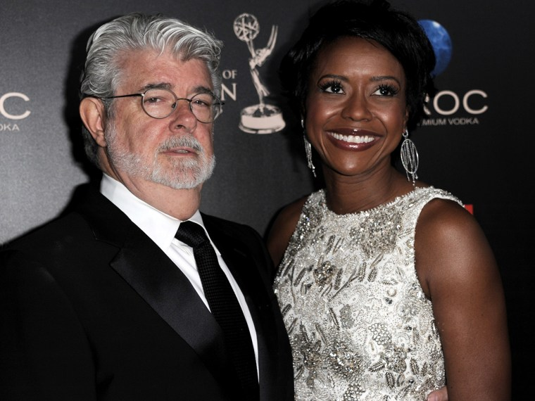 Image: George Lucas and Mellody Hobson.