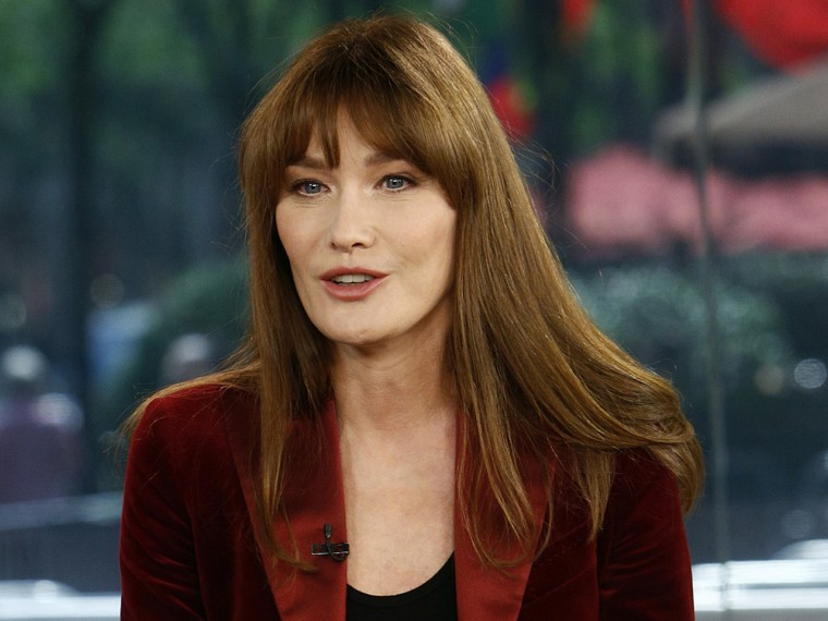 """TODAY -- Pictured: Carla Bruni appears on NBC News' """"Today"""" show -- (Photo by: Peter Kramer/NBC/NBC NewsWire)"""
