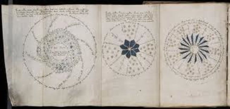 A portion of the mysterious Voynich Manuscript, which, according to a new computer analysis, carries a real message.