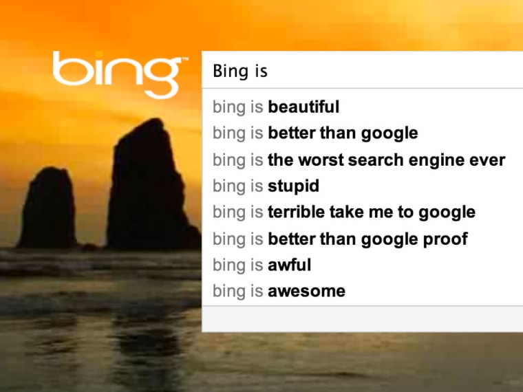 Instant Bing results for
