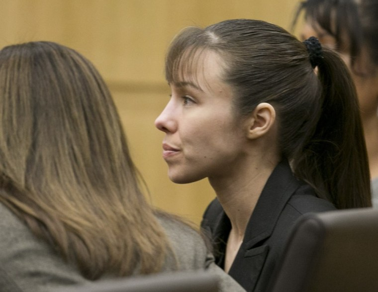 Jodi Arias listens as the verdict for sentencing is read for her first degree murder conviction at Maricopa County Superior Court in Phoenix, Arizona.
