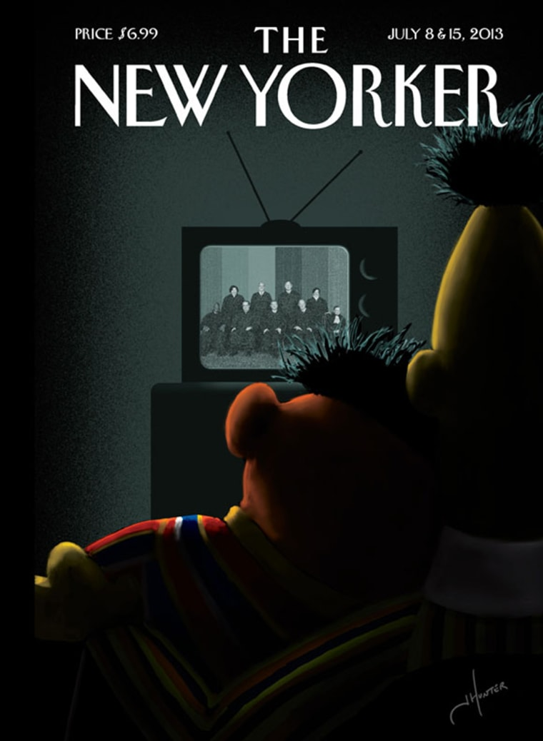 Bert and Ernie on New Yorker cover