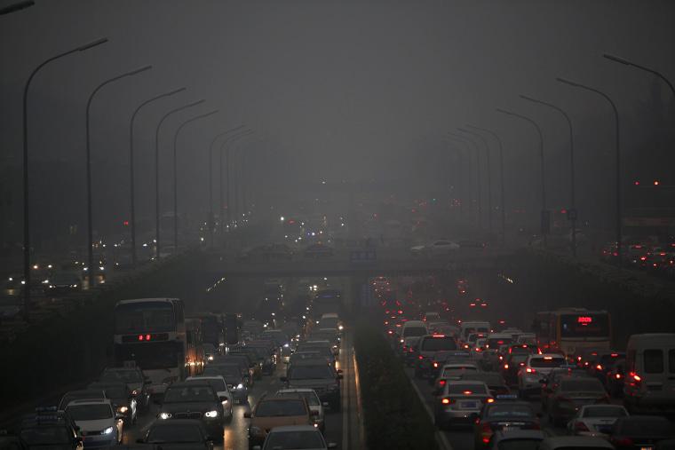 Image of smog in Beijing.