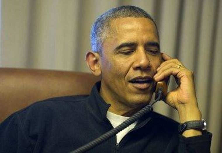 President Obama during his call to Edie Windsor on Wednesday.