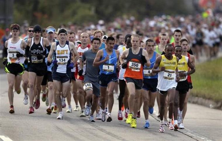 Runners at the 2010 Marine Corps Marathon in Arlington, Va.