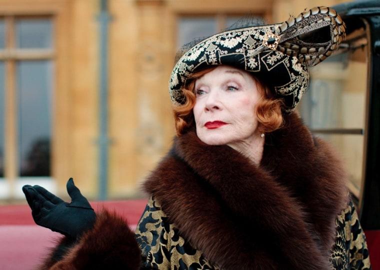 "Shirley MacLaine as Martha Levinson on ""Downton Abbey."""