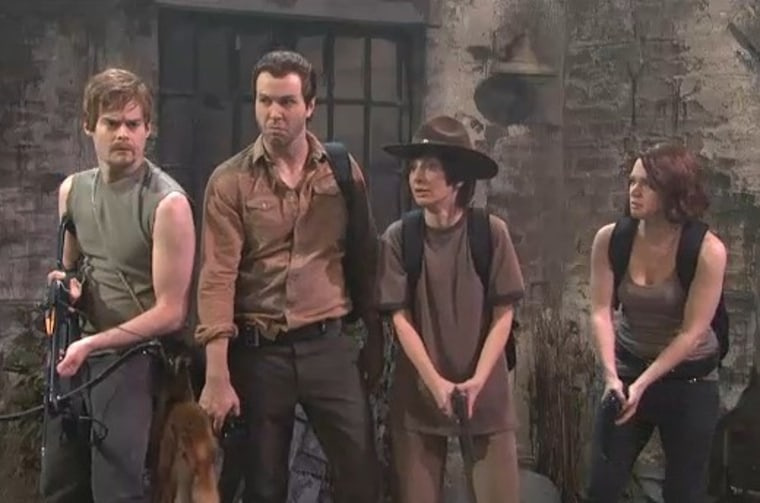 ""\""""Saturday Night Live"""" spoofs """"The Walking Dead.""""""760|503|?|en|2|99c5bb2ef9d21d246da823e6d82674fc|False|UNLIKELY|0.2934023141860962