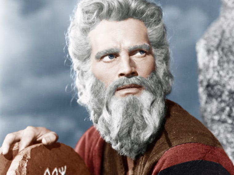 "Charlton Heston in ""The Ten Commandments"" is the iconic Moses for many."