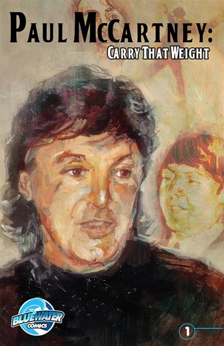 """The cover of the comic book """"Paul McCartney: Carry That Weight"""" is shown in this handout photo. McCartney's life has become the subject of a new comic book."""