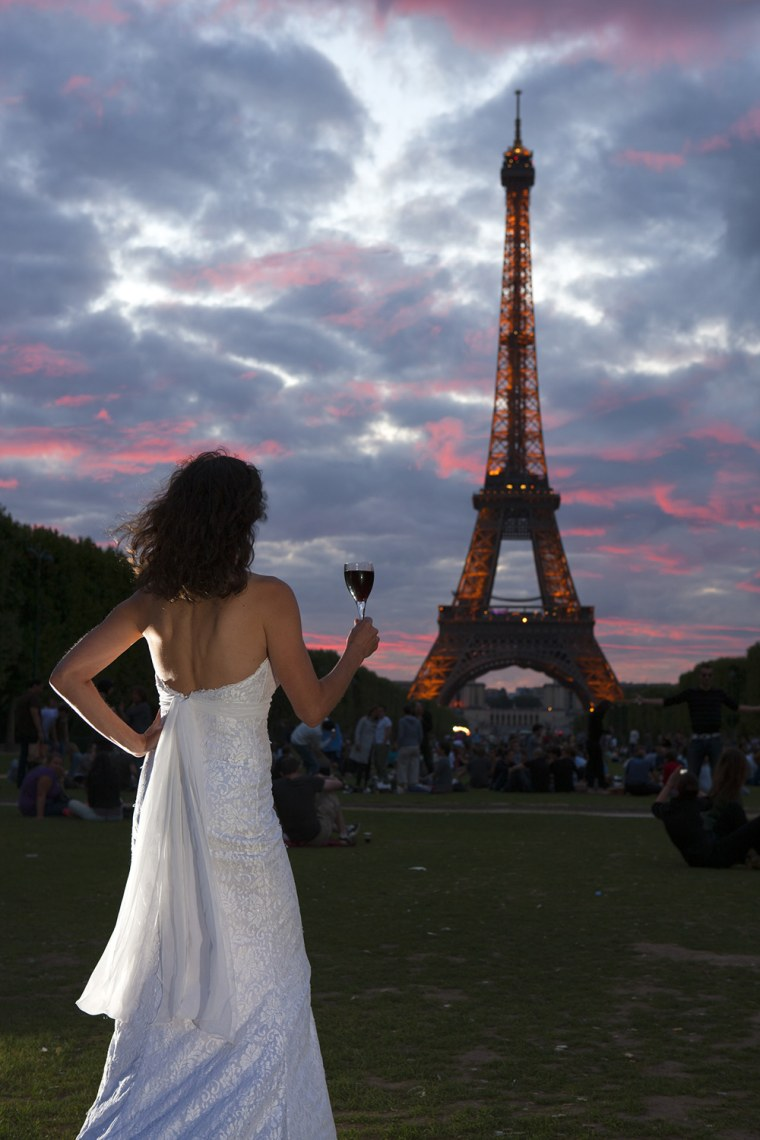 The wedding gown made its way to Paris.