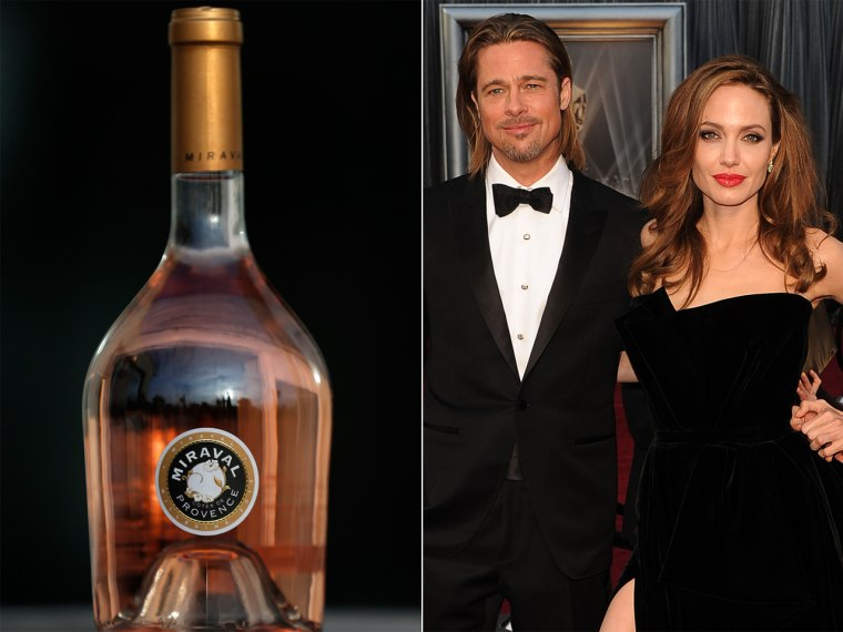 A bottle of Miraval, Cote de Provence rose wine is displayed in Paris, March 4, 2013.