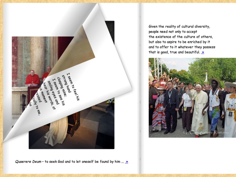 Vatican's Pope Benedict comic sans e-book