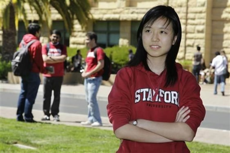 Stanford graduate Serena Yeung, 23, worked as a software engineer at a Silicon Valley startup before returning for graduate school.