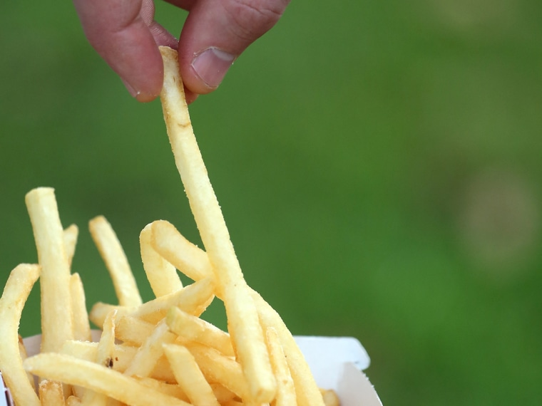 American adults ate about 74 fewer daily calories in 2010 than a decade ago, researchers found. That's about 7 fewer french fries a day.