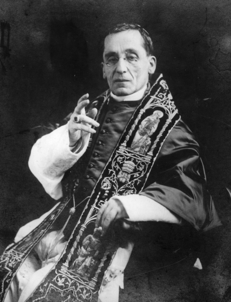 Pope Benedict XV was not happy when a Spanish cardinal suggested he might have broken the rules and voted for himself.