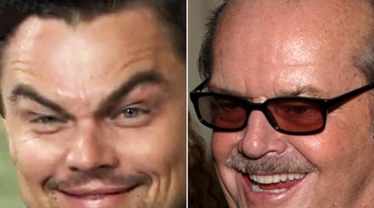 Leo's eyebrows bear an uncanny resemblance to Jack Nicholson's.