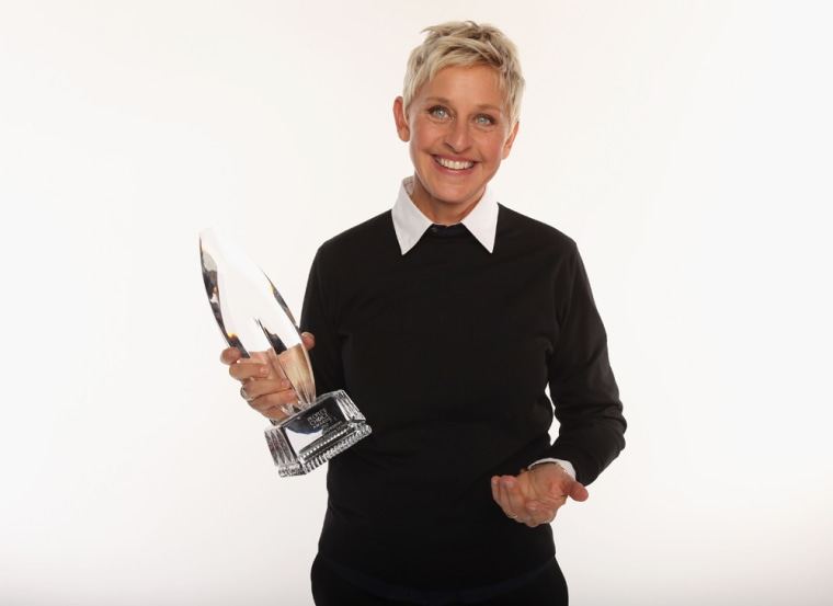 Ellen DeGeneres with one of her People's Choice Awards.