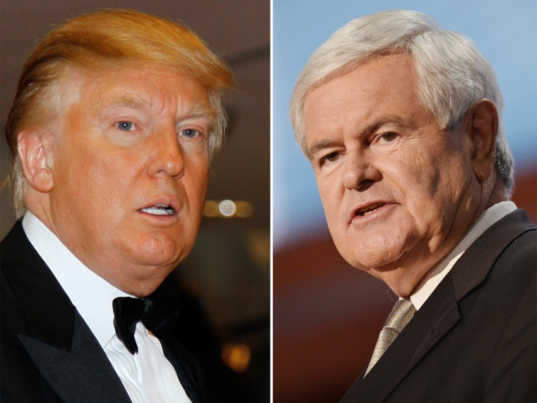 Donald Trump and Newt Gingrich.
