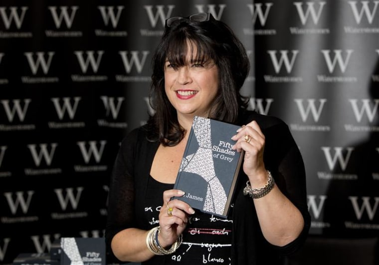 "E L James, author of ""Fifty Shades of Grey,"" poses during a London book signing in  September 2012."