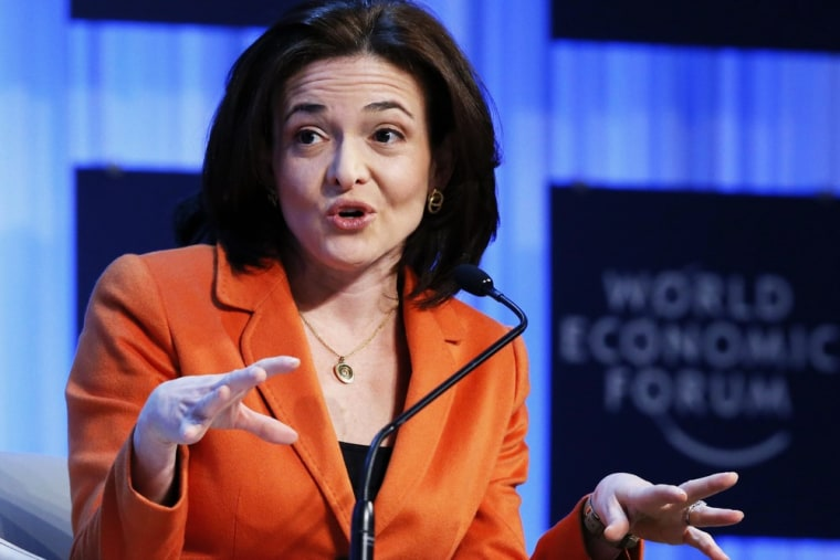 Facebook COO Sheryl Sandberg attends the annual meeting of the World Economic Forum (WEF) in Davos in this January 25, 2013, file photo.