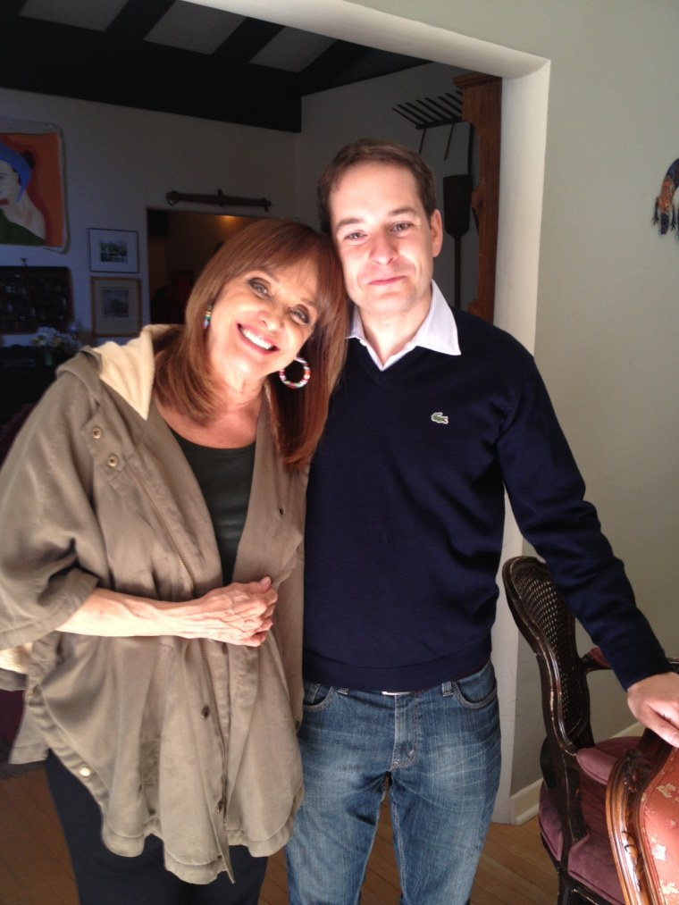 """TODAY producer Tony Freinberg with Valerie Harper, his """"eighth Rhoda."""""""