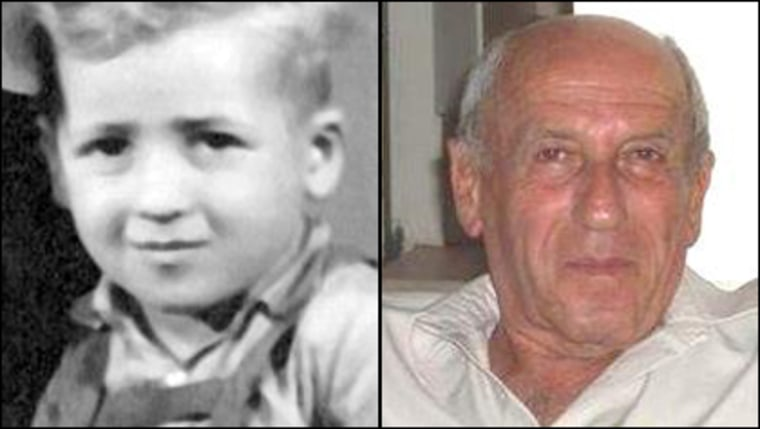 A Holocaust survivor looking to find twin brother teamed up with a genealogist, who posted these photos to Facebook. On the left is Jolli, pictured in the early 1940s. On the right is what his identical twin Menacehm looks like today.