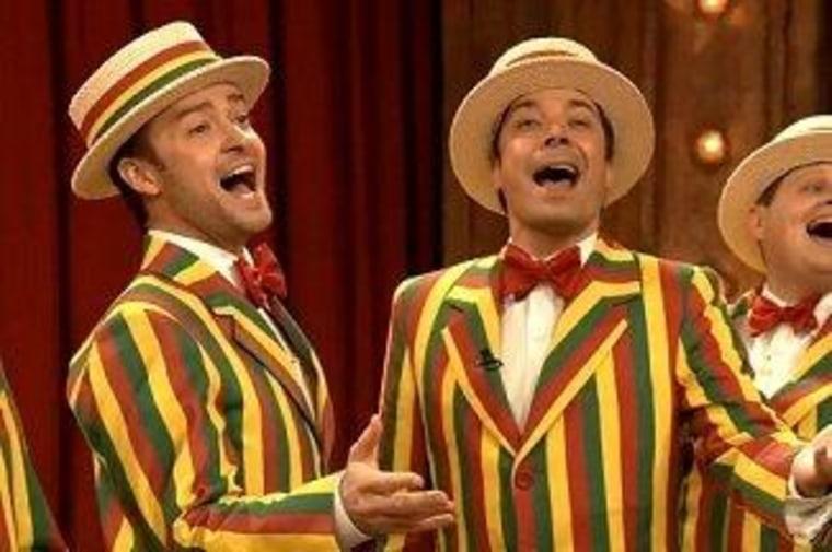 "Justin Timberlake and Jimmy Fallon bring ragtime back on ""Late Night."""