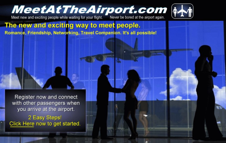 A relationship site for meeting people at the airport.