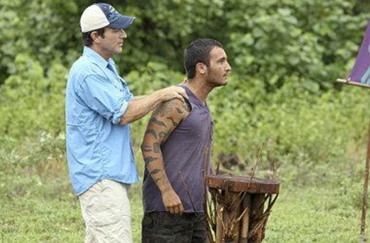 Jeff Probst and Brandon Hantz.