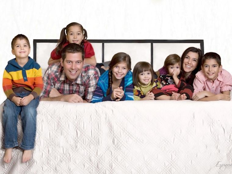 Rachel Campos-Duffy, her husband, Rep. Sean Duffy, R-Wis., and their six children.