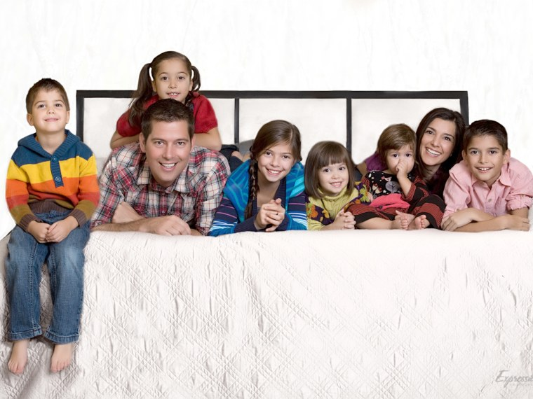 Rachel Campos-Duffy, her husband, Rep. Sean Duffy, R-Wis., and their six children.