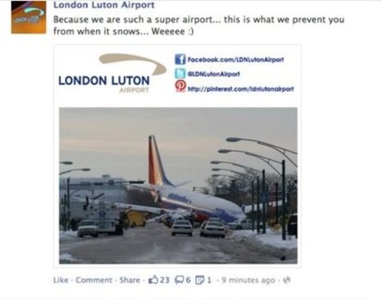An airport's Facebook page is drawing fire.