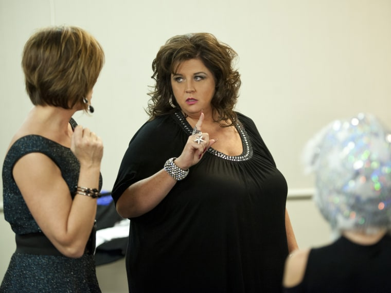 """Tough talking """"Dance Moms"""" instructor Abby Lee Miller used to be even tougher."""