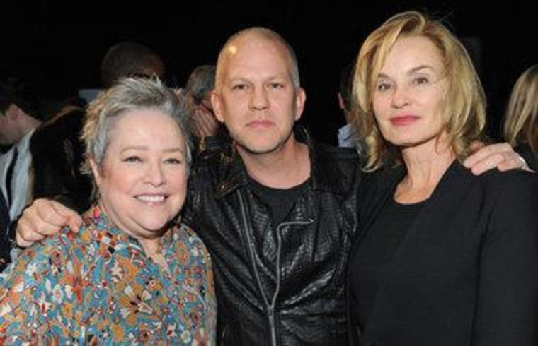 "Kathy Bates, Ryan Murphy and Jessica Lange at the PaleyFest ""American Horror Story: Asylum"" panel."