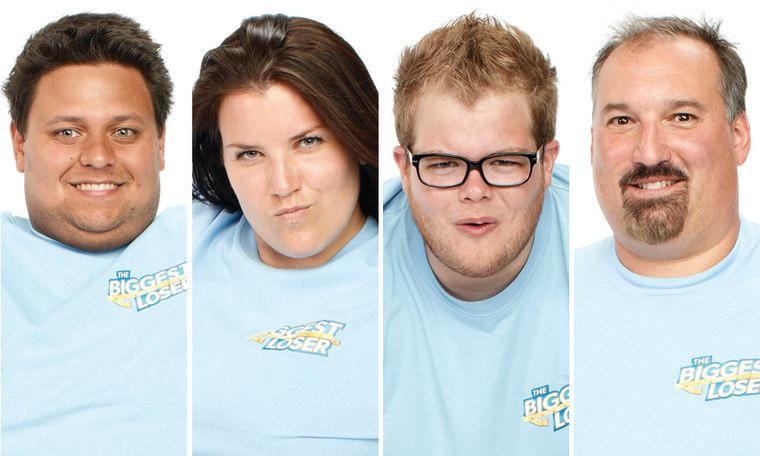 """Jeff, Danni, Jackson and Joe of """"Biggest Loser"""" season 14."""