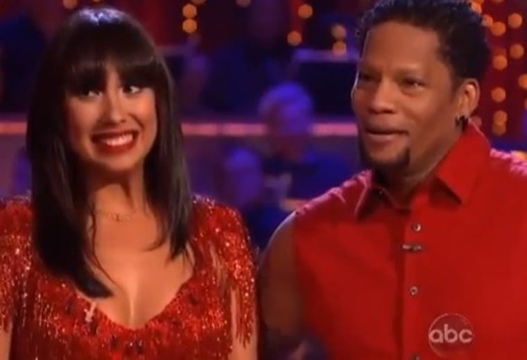 """Cheryl Burke and D.L. Hughley react to the judges' criticisms on the """"Dancing With the Stars"""" premiere on Monday night."""