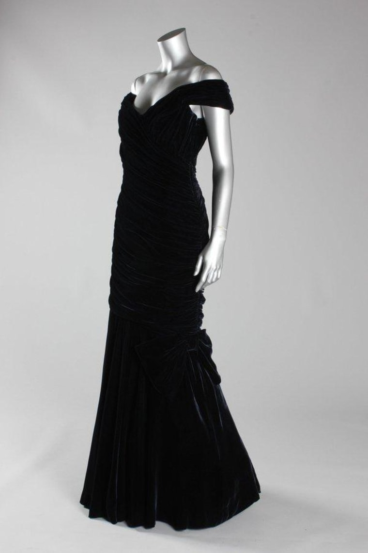 Princess Diana Black Evening Dress