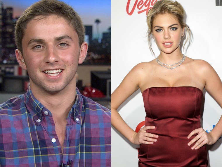 Kate Upton left Jake Davidson momentarily speechless when she replied to his prom request live.