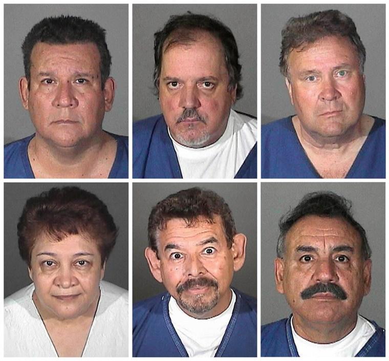 From top left, Luis Artiga, Victor Bello, George Cole; from bottom left, Teresa Jacobo, George Mirabal, and Oscar Hernandez.